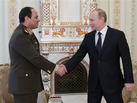 Egypt Strongman Sisi Cast as Statesman in Russia Visit — Naharnet