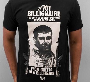 Brisk business for drug baron t shirts after escape naharnet for Chapo guzman shirt brand