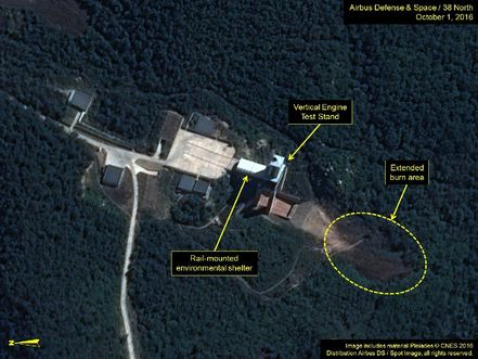 Images show activity at North Korea satellite launch site