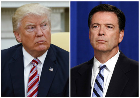 President Donald Trump deflects questions about possible tapes of James Comey meeting