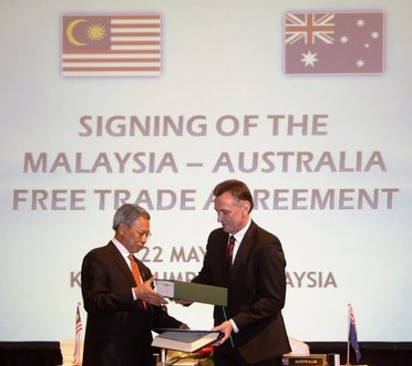 Malaysia Signs Free Trade Agreement With Australia Naharnet