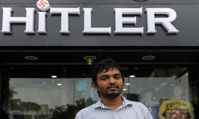 The owner of an Indian store called Hitler said Tuesday he had