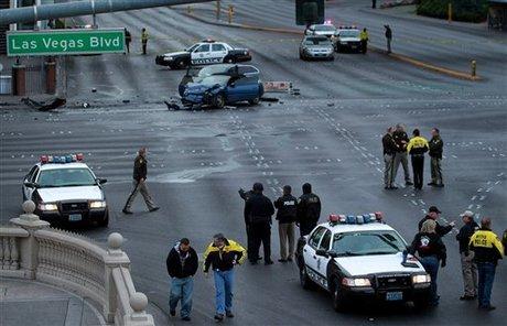 3 Dead in Shooting and Multiple Car Crash in Las Vegas