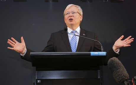 Australian Pm Rudd Heads For Election Wipe Out Naharnet